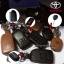 New ซองหนังแท้ ใส่กุญแจรีโมทรถยนต์ Toyota New Vios,Yaris รุ่นโลโก้เงิน 2 ปุ่ม thumbnail 9