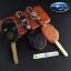 ซองหนังแท้ ใส่กุญแจรีโมทรถยนต์ รุ่นดอกกุญแจ Subaru (Sti) thumbnail 1