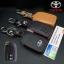 New ซองหนังแท้ ใส่กุญแจรีโมทรถยนต์ Toyota New Yaris 2014-17 แบบ Push Start โลโก้เงิน รุ่น 2 ปุ่ม thumbnail 1