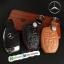 ซองหนังแท้ ใส่กุญแจรีโมทรถยนต์ รุ่นตูดตัด Mercedes Benz สี ดำ,น้ำตาล thumbnail 1