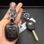 New ซองหนังแท้ ใส่กุญแจรีโมทรถยนต์ Toyota New Vios,Yaris รุ่นโลโก้เงิน 2 ปุ่ม thumbnail 5
