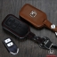 ซองหนังแท้ ใส่กุญแจรีโมทรถยนต์ HONDA HR-V,CR-V,BR-V,JAZZ Smart Key 2 ปุ่ม โลโก้ H เงิน thumbnail 2