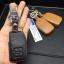 New ซองหนังแท้ ใส่กุญแจรีโมทรถยนต์ Toyota New Yaris 2014-17 แบบ Push Start โลโก้เงิน รุ่น 2 ปุ่ม thumbnail 4